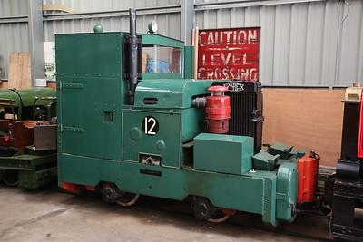 Motor Rail No.12, inside Apedale loco shed - 28/10/17