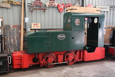 Dtz 10050/1931 (ex-Long Reach Sewage Works, Dartford), inside Apedale loco shed - 28/10/17