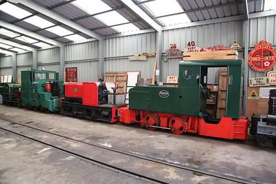 Motor Rail No.12, H 984/1931 & Dtz 10050/1931 (ex-Long Reach Sewage Works, Dartford), inside Apedale loco shed - 28/10/17