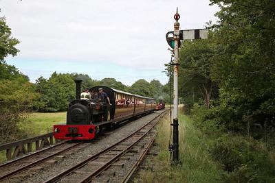 HE 855/1904 'Hugh Napier', Llangower loop, 13.20 Bala-Llanuwchllyn - 27/08/17