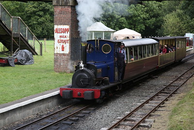 HE 779/1902 'Holy War', Bala, 12.30 to Llanuwchllyn - 27/08/17