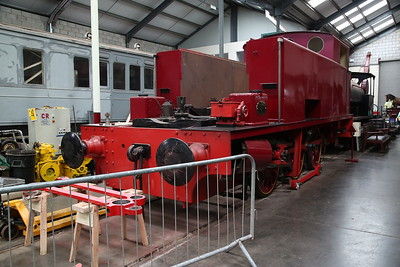 HC 1822/1949 'S100/ S110' (ex-NCB, Peckfield Colliery), under overhaul inside the museum at Brownhills West - 15/07/17