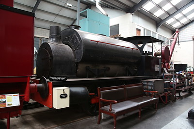 NR 2937/1882 'Alfred Paget' (ex-Bairds & Scottish Steel, Glasgow) inside the museum at Brownhills West - 15/07/17