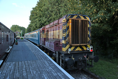 08799, Eythorne, ready to depart with the last run to Shepherds Well - 04/08/17
