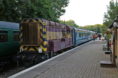 08799, Shepherds Well. after arrival with the 19.38 'special' from Eythorne - 04/08/17