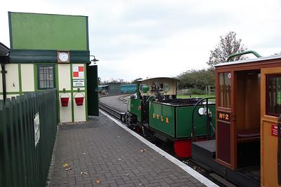 ESR 312/2003 'St. Egwin', Twyford, 14.30 to Evesham Vale - 28/10/17