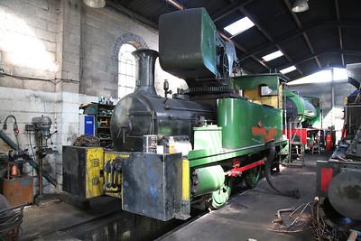 Dubs Crane tank 4101/1901 (ex-British Steel, Stoke-on-Trent), Dilhorne Park shed - 15/04/17