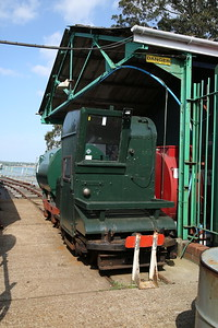 Hythe Pier Railway No.2 (Brush Electric 16302/1917) spare in the siding, Hythe Pier station - 07/05/17.