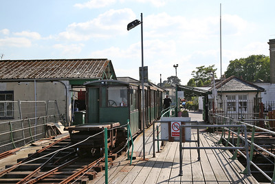 Hythe Pier train about to depart with No.1 (Brush Electric 16307/1917) at the rear - 07/05/17.