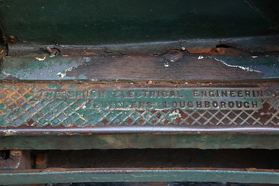 Hythe Pier Railway No.1 (Brush Electric 16307/1917) - builders details on the footplate - 07/05/17.