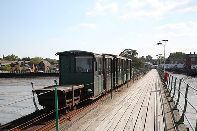Hythe Pier train headed by No.1 (Brush Electric 16307/1917), arriving back at the station - 07/05/17.
