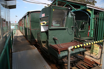 Hythe Pier Railway No.1 (Brush Electric 16307/1917), Hythe Pier Station, 16.20 Departure for the Pier Head ............... No.2 (Brush Electric 16302/1917) sits spare in the siding - 07/05/17.