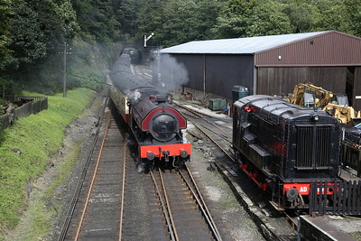 WB 2996/1951 'Victor' arr Haverthwaite, 15.45 from Lakeside - 29/07/17