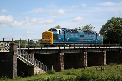 55022 (as 55018), Wansford, backing onto the 10.25 to Peterborough NVR - 04/06/17.