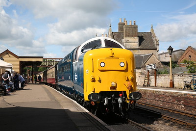 55022 (as 55018), Wansford, 10.25 to Peterborough NVR - 04/06/17.