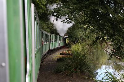 'Georgina' leaving Peasholm Park, 13.30 to Scalby Mills - 17/08/17