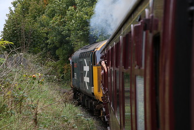37424 erupts as it gets away from Strand Rd. (return of the 12.45) - 01/10/17