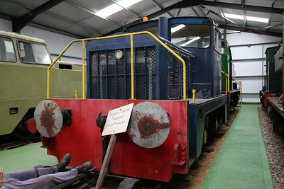 TH 178V/1967 'No.8' (ex-NCB Haworth Colliery, Nottingham & Barrington Cement Works) on display inside the museum - 04/06/17.
