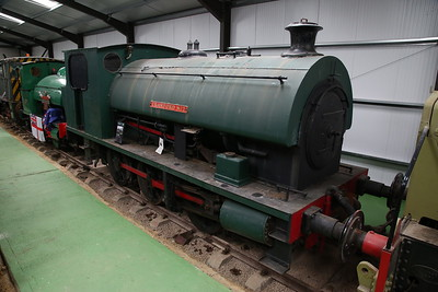 WB 2668/1942 'Cranford No.2' (ex-Staveley Minerals, Cranford, Northants) on display inside the museum - 04/06/17.
