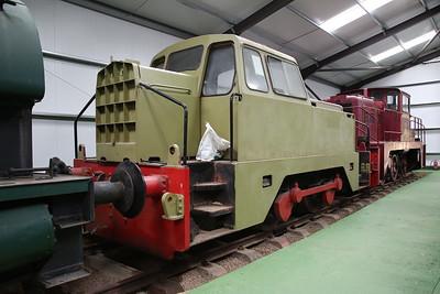 RR 10207 / 1965 'Graham' (ex-Oxfordshire Ironstone Co, Banbury & Staveley Works, Ilkeston) on display inside the museum - 04/06/17.