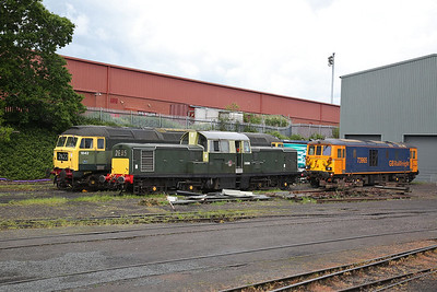 47192 (D1842), D8568 and 73965, Kidderminster shed - 19/05/17.