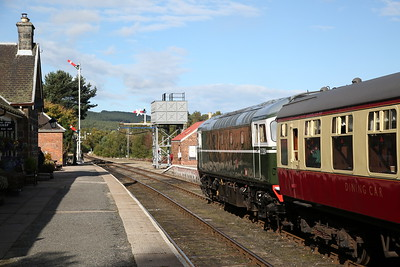 D5394 (27050) , Boat of Garten, on rear of 14.20 Dulnain Bridge-Aviemore - 24/09/17