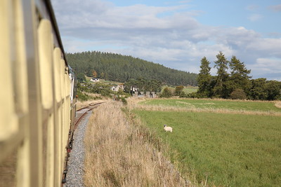D5394 (27050) approaching the current end of the line at the recently reinstated Dulnain Bridge - 24/09/17