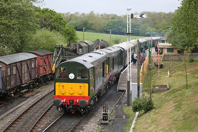 20059 + 20188, Norden, 11.50 to Swanage - 07/05/17.