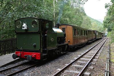 TR No.4 'Peter Sam' / 'Edward Thomas', Abergynolwyn, 15.40 Nant Gwernol-Tywyn Wharf - 27/08/17