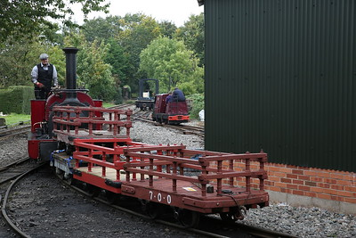 HE 780/1902 'Alice', Becconsall, shunting freight wagons - 24/09/17
