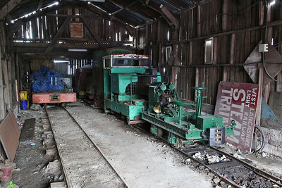 Several diesel locos inside the shed at Becconsall - 24/09/17