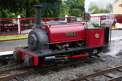 HE 680/1898 'George B', Llanuwchllyn, having arrived on the 13.20 ex Bala - 16/06/18