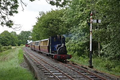HE 779/1902 'Holy War', waiting in the loop at Llangower, 15.00 Bala-Llanuwchllyn - 16/06/18