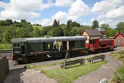 D8057 (20057), currently engine-less, under restoration at Cheddleton alongside AB 2226/1946 'Katie' - 03/06/18