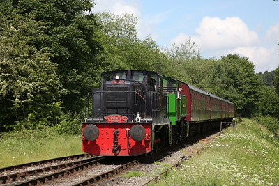 YE 2748/1956 (No.6 'Robert H Bennett') + TKh 2944 arr Cheddleton, 11.10 ex Kingsley & Froghall via Leek Brook - 03/06/18