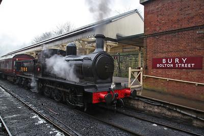 '2890', Bury Bolton Street, on rear of 1H50 09.20 to Heywood - 04/03/18
