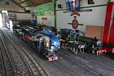 An impressive array of motive power inside Parkside station - 02/06/18