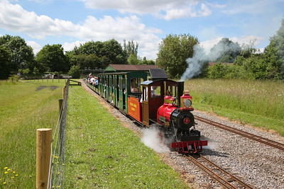 7 'Sandy River leaving Parkside with a passenger service to Monks Brook Halt - 02/06/18