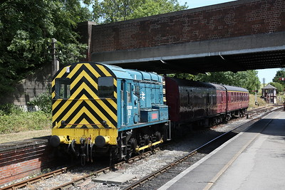 08590 stabled at Butterley - 01/07/18