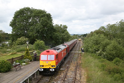 67006 departs Butterley, and 60100 brings up the rear, 10.02 Riddings-Hammersmith - 17/06/18