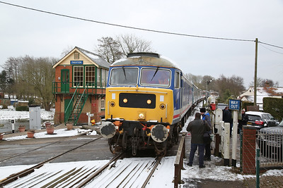 47596 (88008 rear) arr Thuxton, 1D14 13.33 Wymondham Loop-Dereham - 18/03/18