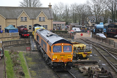 66781, Wansford Yard, being fired up - 08/04/18