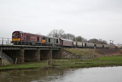 20142 + 20007 arr Wansford, 10.50 ex Peterborough NVR - 08/04/18