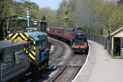 08495 ready to leave on another BV ride once 30926 has arrived on 12.30 ex Grosmont - 06/05/18