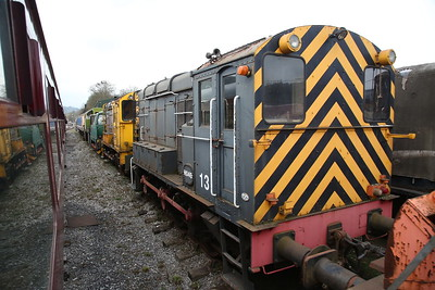 HO49 / 13 (ex-NS 692) and ex-NS 685 stored at Darley Dale - 08/04/18