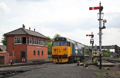 50049, Kidderminster, backing onto the 14.35 to Bridgnorth - 18/05/18