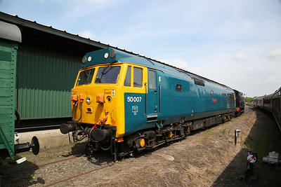 50007 sits spare at Kidderminster - 18/05/18