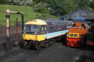 47712 / D9551, Bridgnorth loco depot - 18/05/18