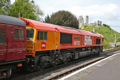 66783, Corfe Castle, 1Z46 12.25 to Wareham - 13/05/18