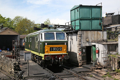 D7017, Swanage loco shed - 13/05/18